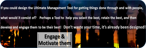 What if you could design the Ultimate Management Tool? Would it help Engage and Motivate your People?